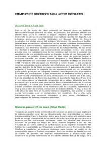 discurso de docente acto 25 de mayo ejemplos de discursos para actos escolares