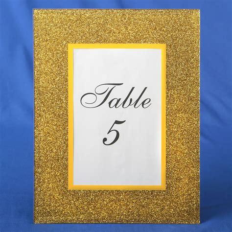 gold table number frames gold glitter table number picture frames