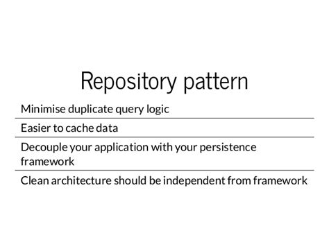 repository pattern problems the tao of laravel