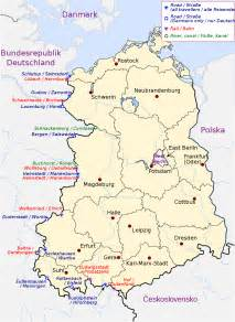West Germany Map by Inner German Border Military Wiki