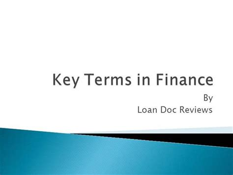 Basic Financial Terms For Mba by Basic Finance Terms Authorstream