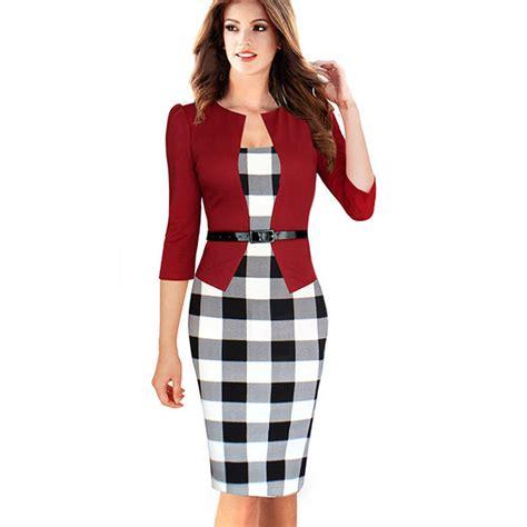 high quality 2016 summer dresses fashion patchwork plaid