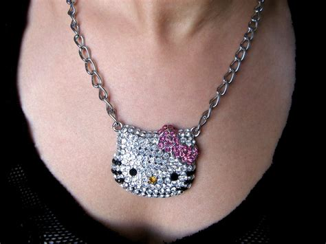 Hello Pink Necklace large hello swarovski necklace pink