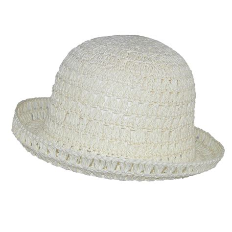 womens toyo straw sun crochet hat by ctm 174 floppy