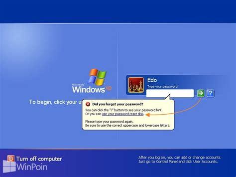 cara membuat xp auto start di windows cara membuat reset password disk di windows xp winpoin