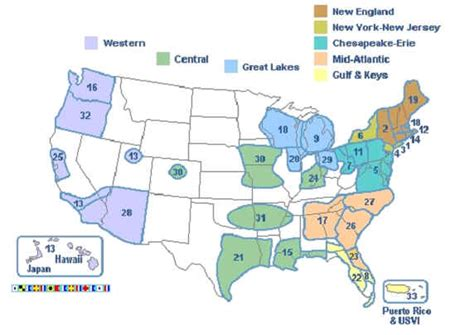 Usps Locations And Hours by Usps Locations And Hours District Map