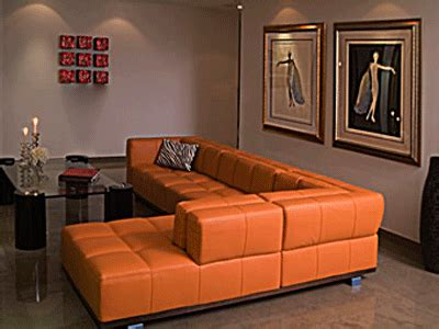 orange sofa decorating ideas ديكور منزلك باللون البرتقالي مجلتك