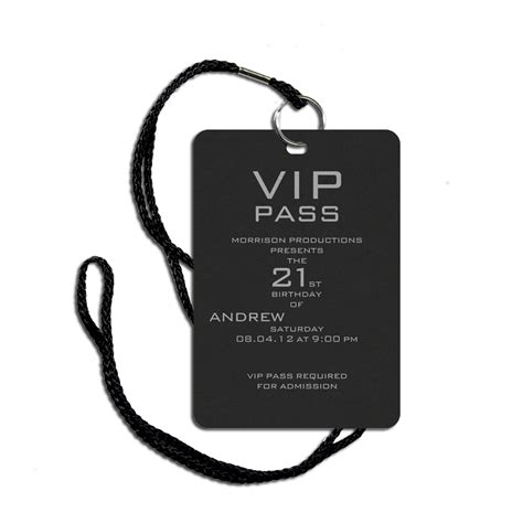 vip pass invitation templates cloudinvitation com