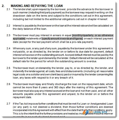 directors loan to company agreement template directors loan to company agreement template emsec info