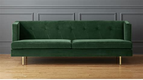 emerald green velvet sofa avec emerald green velvet sofa with brass legs cb2