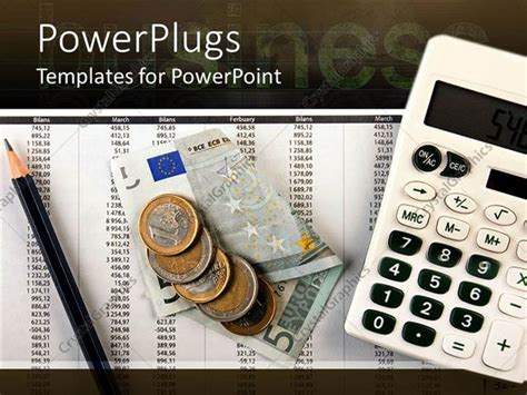 Powerpoint Template Numbers On Sheet Including Months Calculator Money And Pencil 4992 Accounting Powerpoint Templates