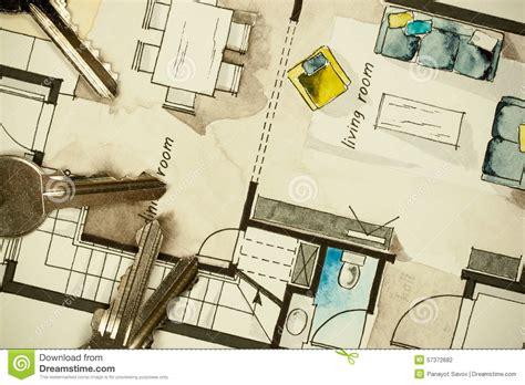 Custom Design House Plans architectural flat floor plan stock photo image 57372682