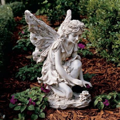 40 Stunningly Beautiful Statues Of Fairies And Angels For Flower Garden Ornaments