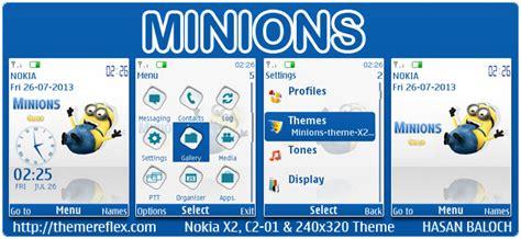themes nokia minions minions theme for nokia x2 00 c2 01 x3 00 x2 05 2700