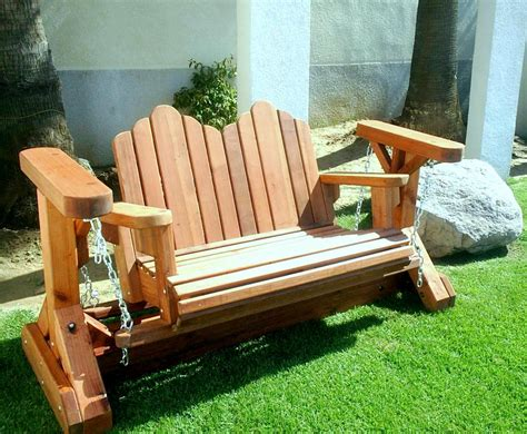 wooden glider swing plans adirondack chain glider options double mature redwood