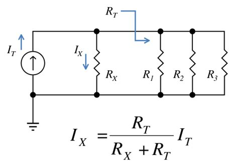resistor in parallel with current source possible calculation error using current divider rule on a non ideal current source circuit