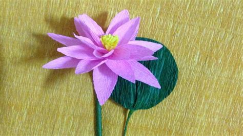 How To Make Lotus Using Paper - how to make lotus crepe paper flowers flower of