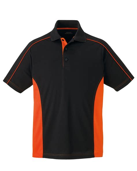 color block polo shirt mens side color block moisture wicking performance polo