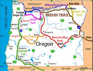 map of the oregon trail with landmarks oregon trail map