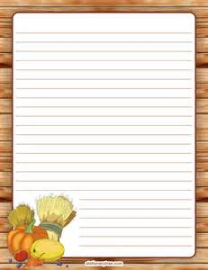 Thanksgiving Lined Writing Paper Printable Thanksgiving Stationery