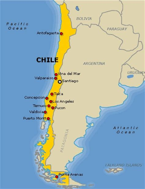 south america map chile chile the best countries of south america