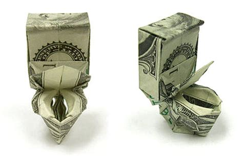 How To Make Origami With A Dollar - toilet bowl origami dollar 2018