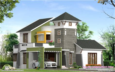 unique 2220 sq villa elevation kerala home design