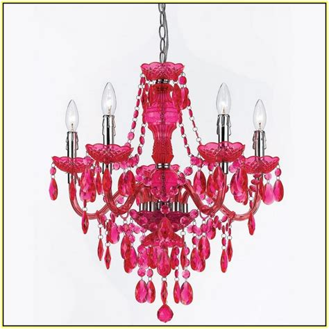 Hot Pink Chandelier Light   Home Design Ideas