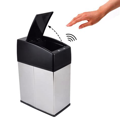 touch desk l stainless steel 3l 6l mini stainless steel garbage touchless automatic car