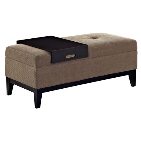 storage ottoman bench with tray amazon com simpli home oregon rectangular storage ottoman