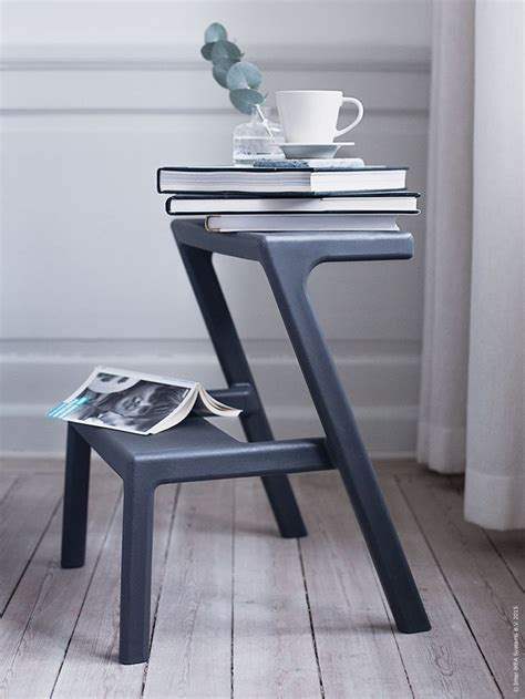 living room stools try doubling a m 196 sterby step stool as a living room side