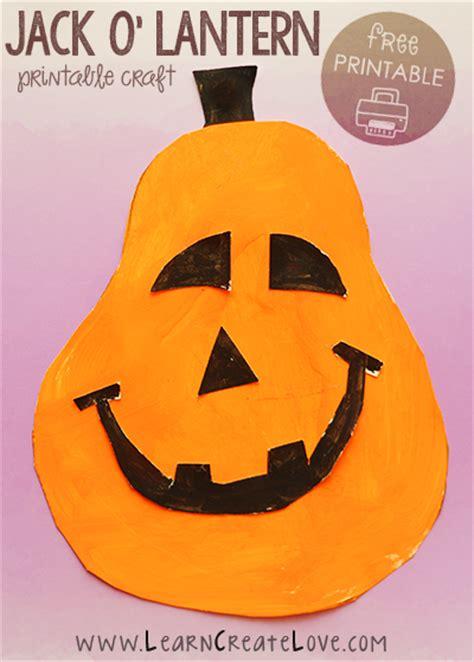 Printable Jack O Lantern Craft | printable jack o lantern craft