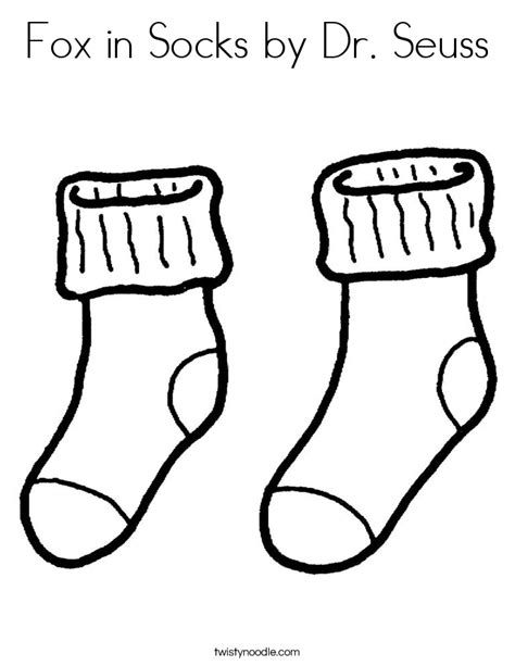 fox in socks coloring page fox in socks by dr seuss coloring page twisty noodle