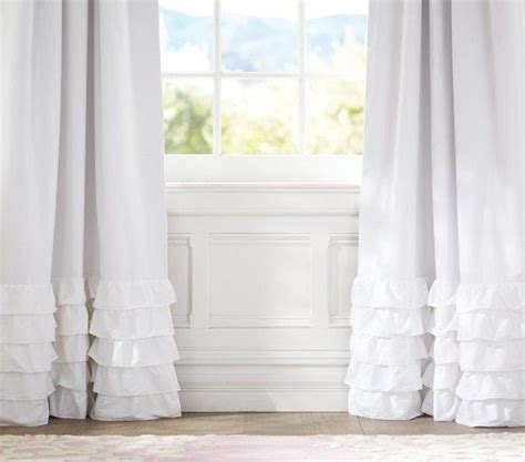 pb kids curtains ruffle bottom blackout panel pottery barn kids ms big