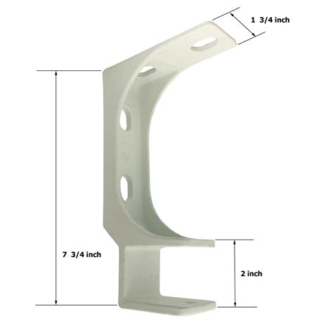 ceiling bracket for retractable awning white aleko