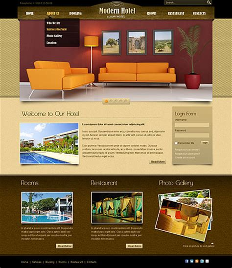 free bootstrap templates for resorts hotel v2 5 joomla template id 300110995 from bootstrap
