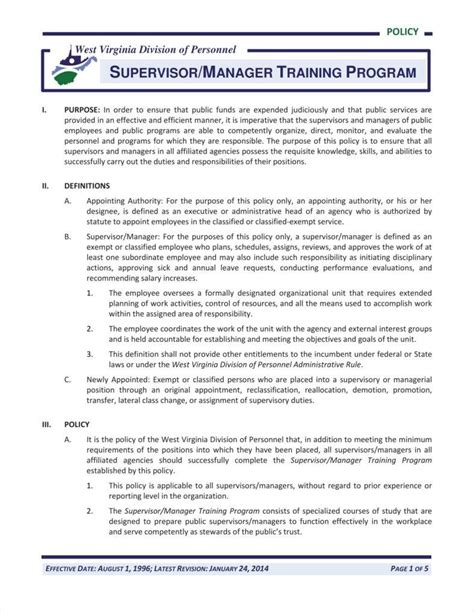 10 Training Policy Templates Free Pdf Format Download Free Premium Templates Policy Template