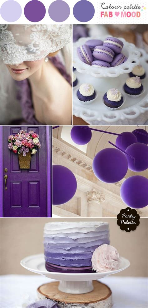 Beautiful Table Centerpieces purple wedding color palette shades of purple wedding party