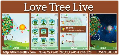 love themes c2 love tree live theme for nokia x2 00 x2 02 x2 05 c2 01