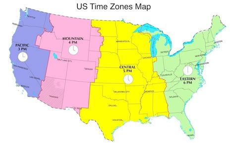 united states map of time zones map of the united states divided by time zones pictures to