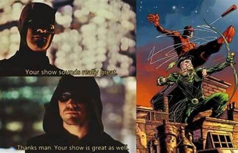 Daredevil Meme - daredevil series and arrow series meme comic crossovers