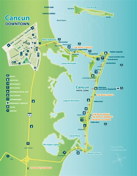 maps cancun mexico cancun and riviera home of five royal resorts royal