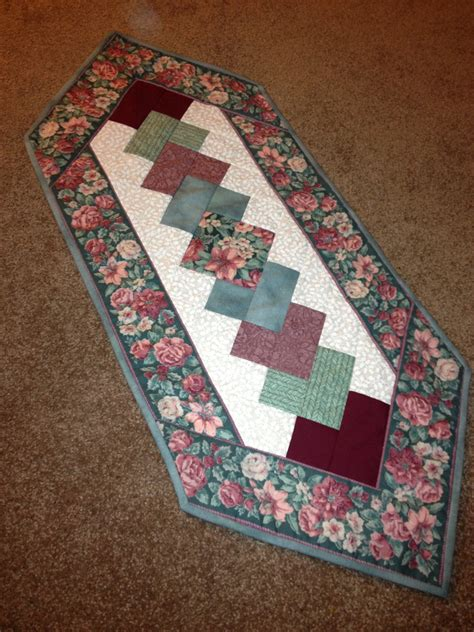 How To Make A Quilted Table Runner by Floral Quilted Table Runner