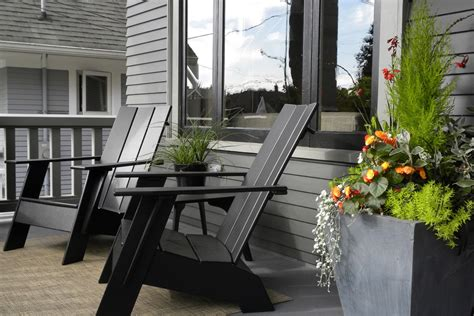 Sumptuous plastic adirondack chairs in Eclectic Seattle