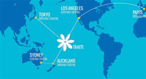 los angeles to hawaii boat time route map air tahiti nui