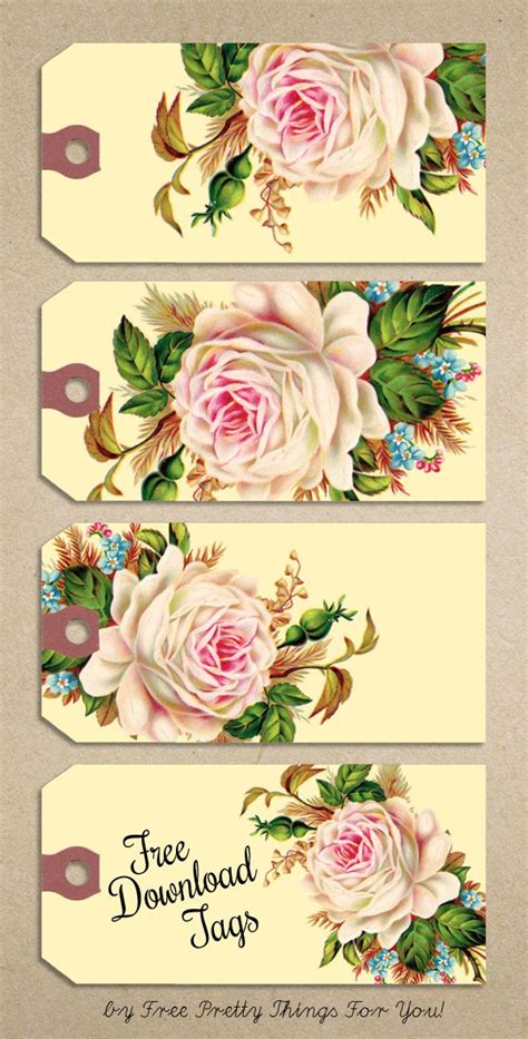 printable manila tags free printable gift tags vintage rose manila tags free
