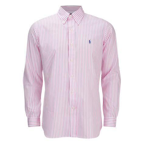 White Stripe Pink Black Slim Sling Styled S M Dress 44755 polo ralph s striped dress shirt pink white free uk delivery 163 50