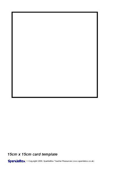 square card template for word 15cm x 15cm card template sb2223 sparklebox