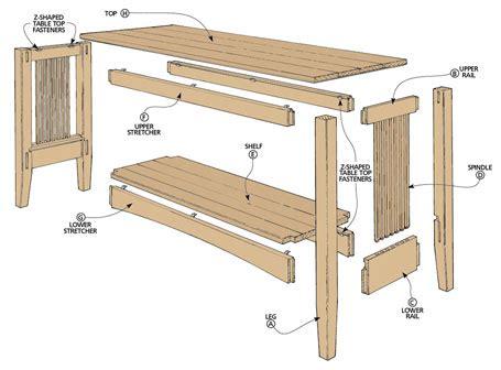 free wood sofa table plans oak sofa table woodsmith plans