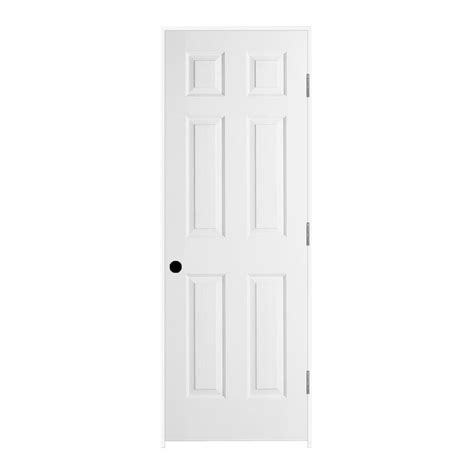 26 Prehung Interior Door Jeld Wen 26 In X 80 In Woodgrain 6 Panel Primed Molded Composite Single Prehung Interior Door